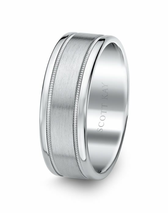 Scott Kay C0368C65-8 Platinum Wedding Ring