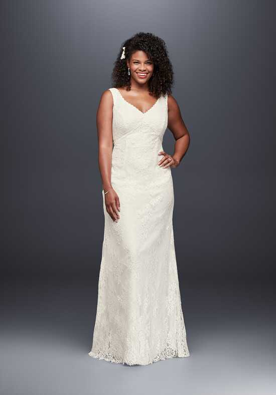 David's Bridal Galina Style KP3803 Sheath Wedding Dress