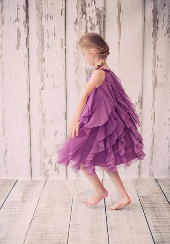 Kid's Dream 8055 Purple Flower Girl Dress