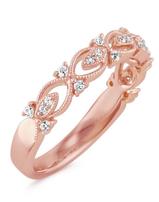 Shane Co Vintage Round Diamond Wedding Band in 14k Rose Gold