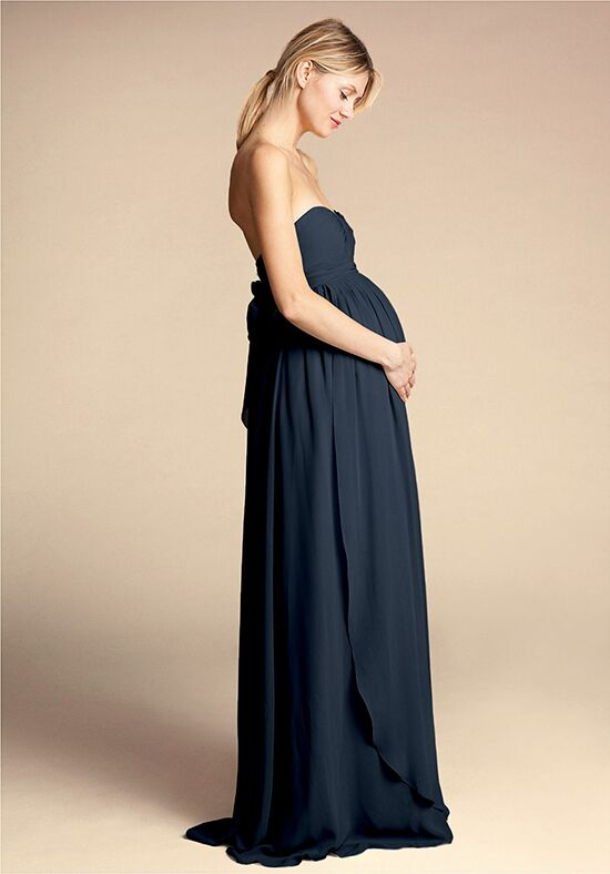BHLDN (Bridesmaids) Cerise Maternity Dress Strapless Bridesmaid Dress