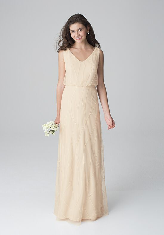 Bill Levkoff 1264 V-Neck Bridesmaid Dress