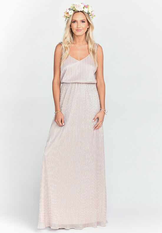 Show Me Your Mumu Kendall Maxi Dress - Magic Mauve Glimmer V-Neck Bridesmaid Dress