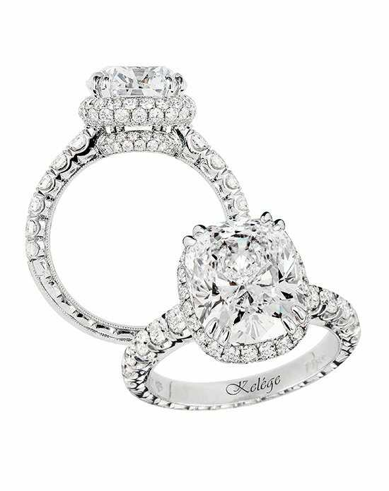 Jack Kelege Cushion Cut Engagement Ring