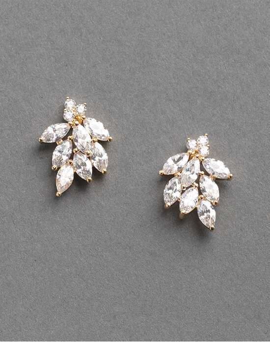 Dareth Colburn Mia Floral Gold CZ Earrings Wedding Earring photo