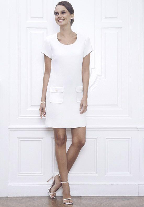 Jane Summers Nan White Short Sleeve A Line Shift Dress Wedding