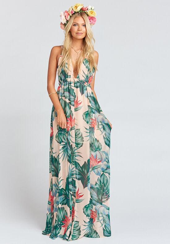 Show Me Your Mumu Luna Halter Dress - Kauai Kisses Halter Bridesmaid Dress