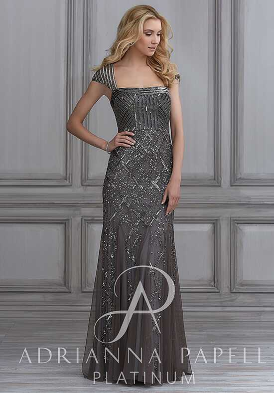 Adrianna Papell Platinum 41013 Square Bridesmaid Dress
