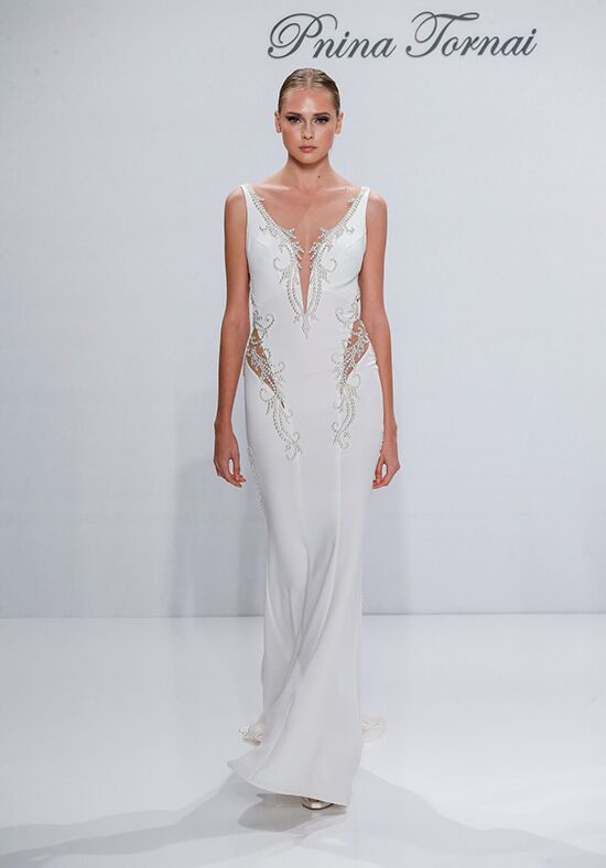 Pnina Tornai for Kleinfeld 4537 Sheath Wedding Dress