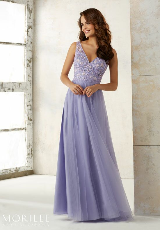 Morilee by Madeline Gardner Bridesmaids 21521 V-Neck Bridesmaid Dress