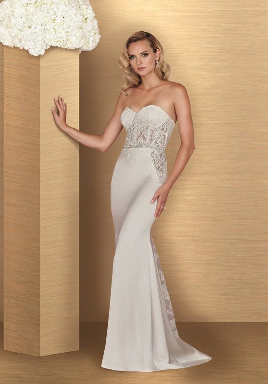 Paloma Blanca 4669 Sheath Wedding Dress