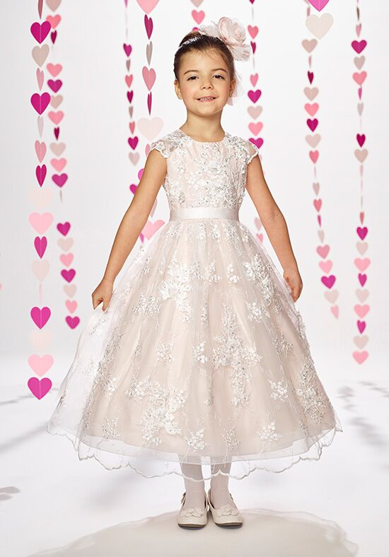 Joan Calabrese by Mon Cheri 217383 Ivory Flower Girl Dress