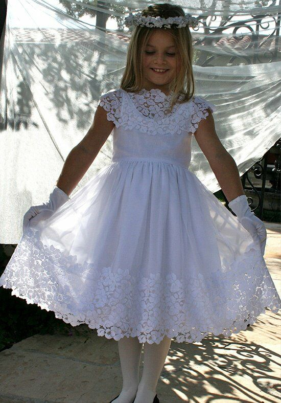 Isabel Garretón Vintage White Flower Girl Dress