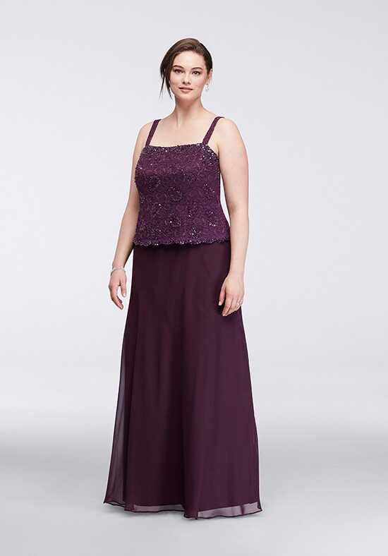 David's Bridal Mother of the Bride ES96540DB Purple Mother Of The Bride Dress