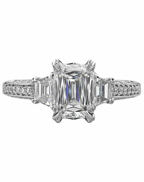 christopher designs - Emerald Cut Wedding Rings