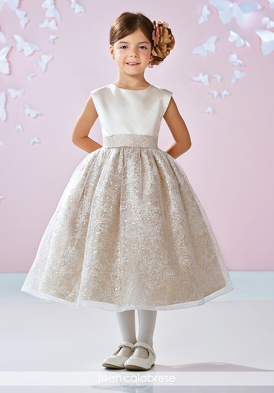 Joan Calabrese by Mon Cheri 117351 Silver Flower Girl Dress