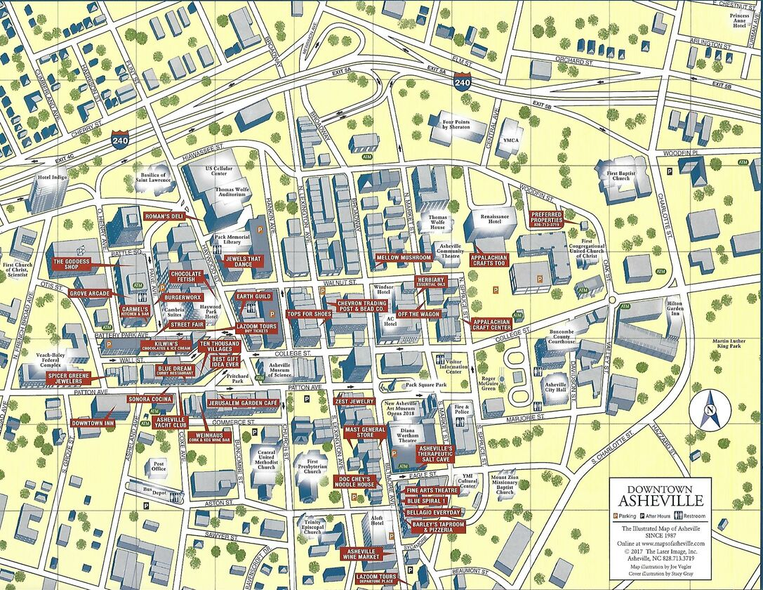 Images of Asheville Map Downtown - #rock-cafe on