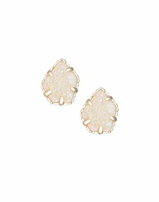 Kendra Scott Tessa Stud Earrings in Iridescent Drusy Wedding Earring photo