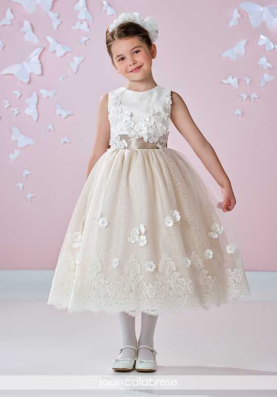 Joan Calabrese by Mon Cheri 117336 Brown Flower Girl Dress