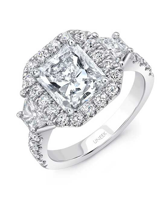 Uneek Fine Jewelry Elegant Radiant Cut Engagement Ring