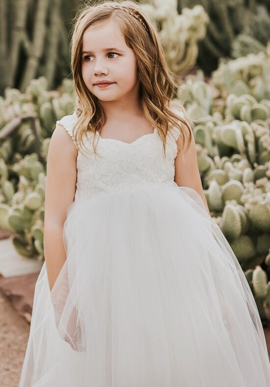 FATTIEPIE grace in lace ivory Ivory Flower Girl Dress