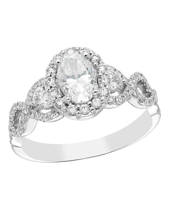 "Say ""Yes!"" in Platinum Elegant Round, Oval Cut Engagement Ring"