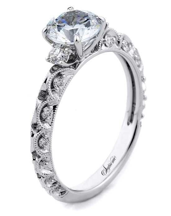 Supreme Jewelry Vintage Round Cut Engagement Ring