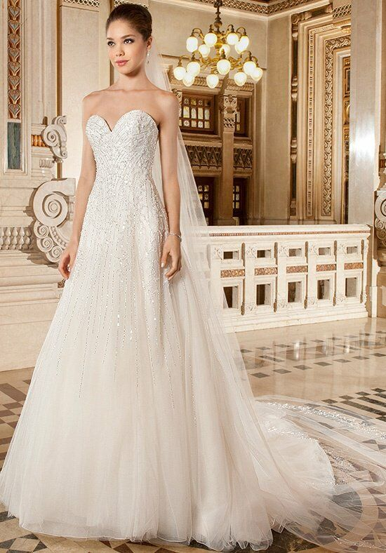 Demetrios 571 A-Line Wedding Dress
