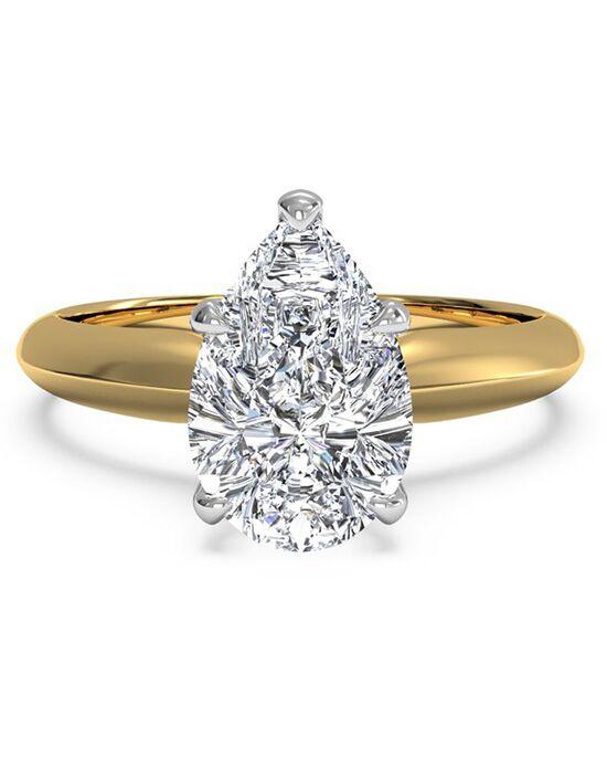 Ritani. Solitaire Diamond Knife Edge Engagement Ring ...
