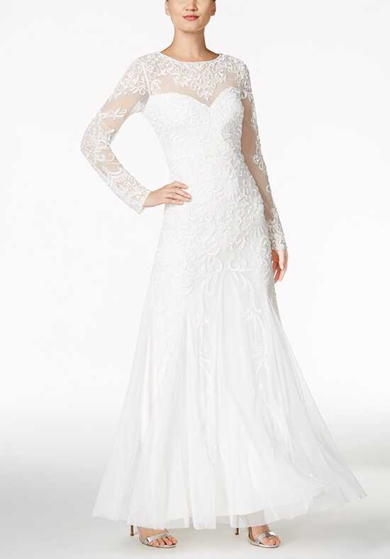 Adrianna Papell Wedding Dresses Adrianna Papell Beaded Illusion Sweetheart Gown A-Line Wedding Dress
