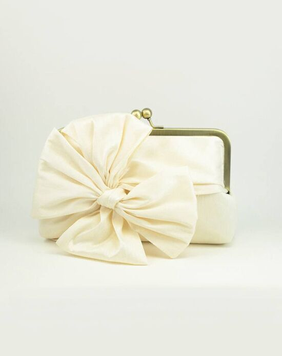 Davie & Chiyo | Clutch Collection Classic Bow Clutch: Ivory Ivory Clutches + Handbag
