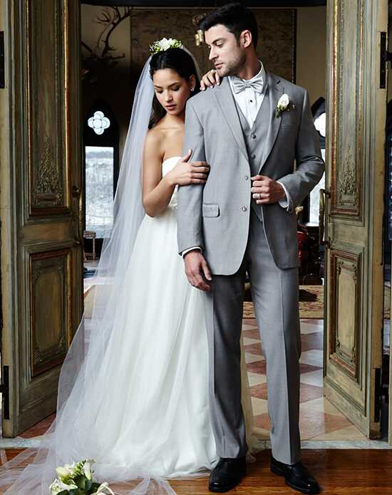 BLACKTIE MADISON Heather Grey Wedding Suit Gray Tuxedo