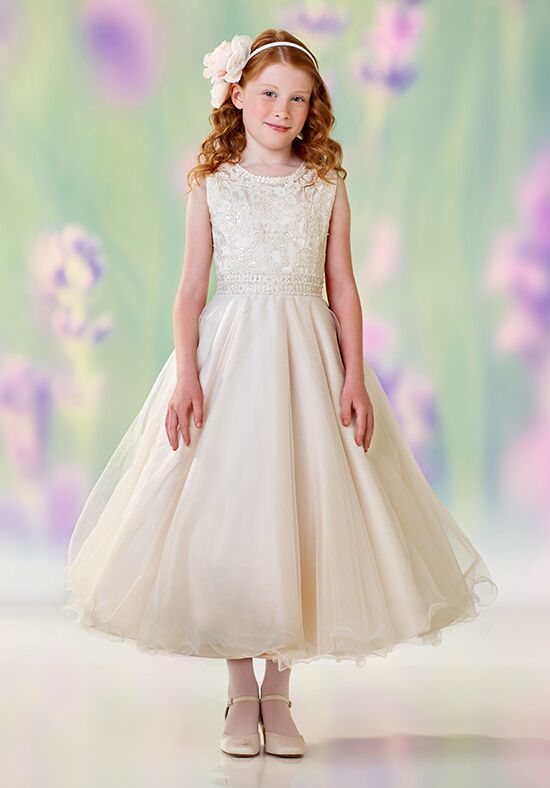 Joan Calabrese by Mon Cheri 118302 Pink Flower Girl Dress