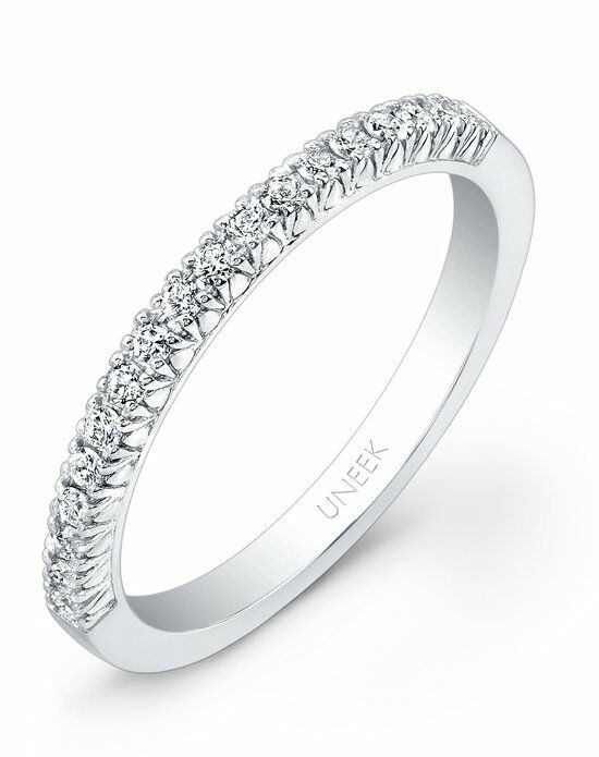 Uneek Fine Jewelry UWB019 White Gold Wedding Ring