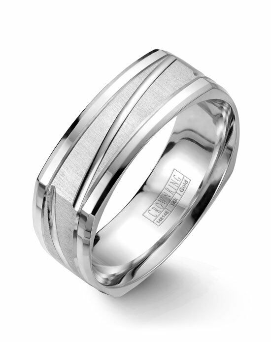 CrownRing WB-7909-M10 White Gold Wedding Ring