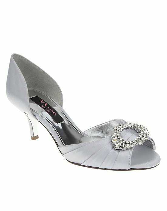Nina Bridal Wedding Accessories CRYSTAH_SILVER Silver Shoe
