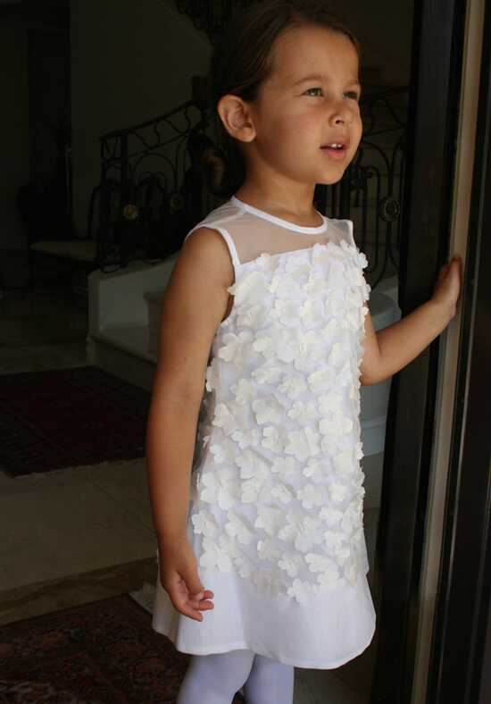 Isabel Garretón Garden White Flower Girl Dress