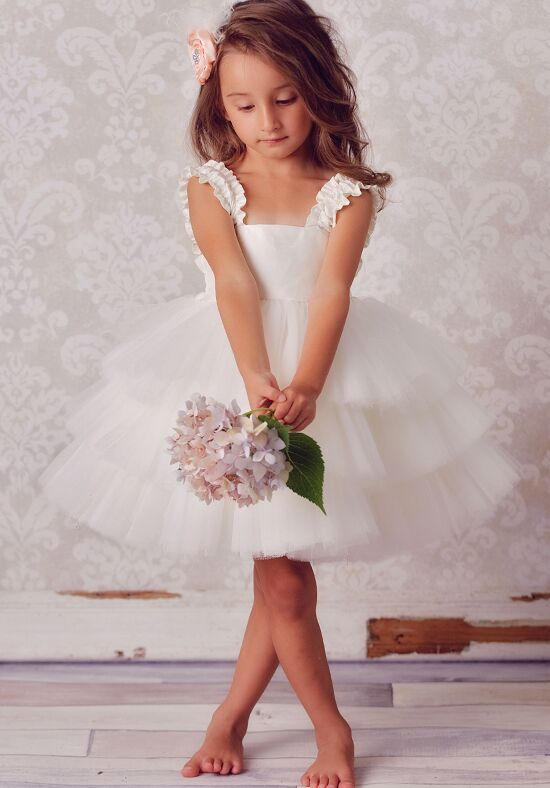 FATTIEPIE Stefani Ivory Flower Girl Dress