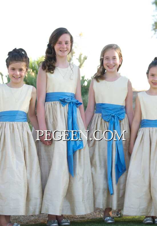 Pegeen.com 388 Black Flower Girl Dress