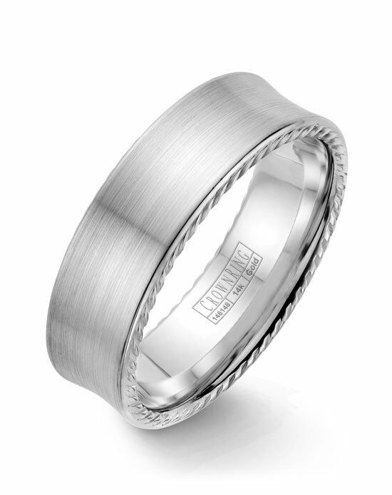 CrownRing WB-008R7W-M10 White Gold Wedding Ring