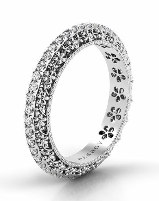 Danhov Petalo Daisy Band Platinum Wedding Ring