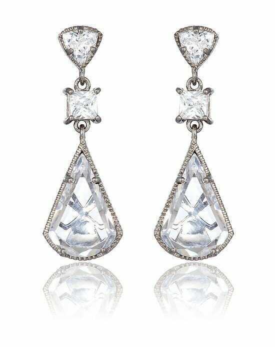 Thomas Laine Lucille Drop Earrings - Silver Wedding Earring photo