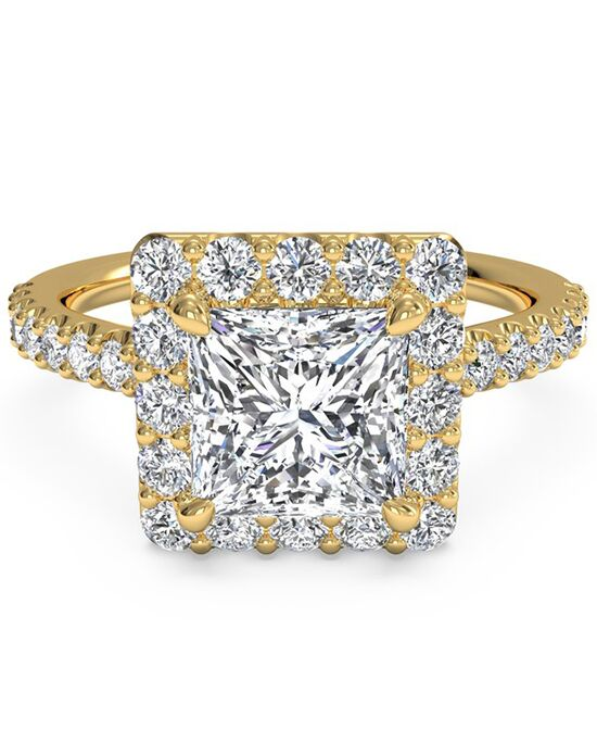 Ritani Elegant Princess Cut Engagement Ring
