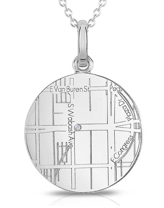 A.JAFFE Maps MAPP016 Wedding Necklace photo