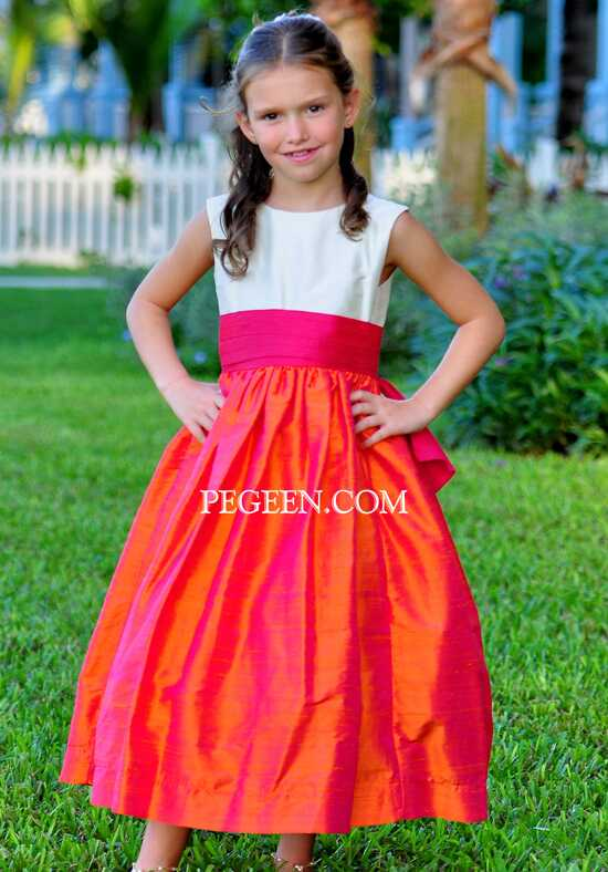 Pegeen.com 345 Black Flower Girl Dress