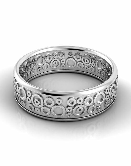 Danhov Classico Circle Band White Gold Wedding Ring