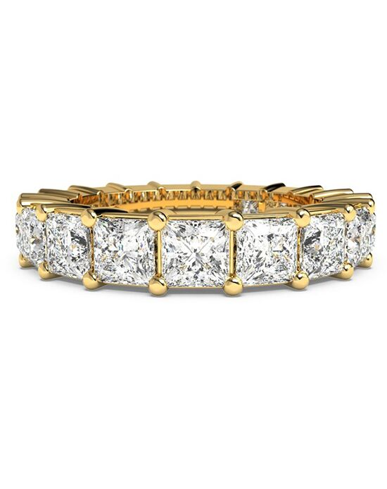 Ritani Women's Princess-Cut Diamond Prong-Set Eternity Ring - in 18kt Yellow Gold - (3.78 CTW) Gold Wedding Ring