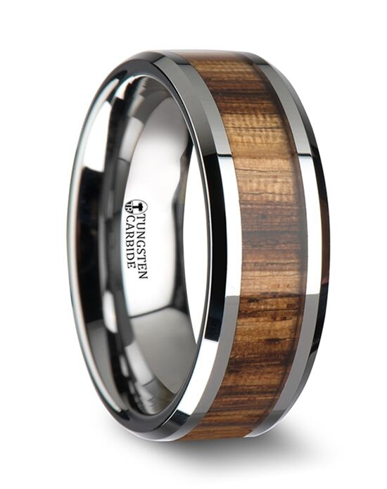 Mens Tungsten Wedding Bands W1896ZBWI Wedding Ring The Knot