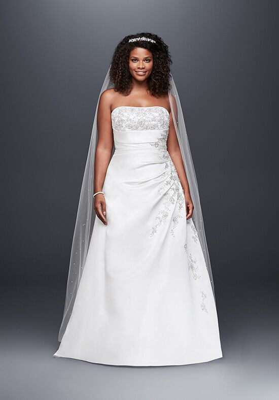 David's Bridal David's Bridal Collection Style 9V9665 A-Line Wedding Dress