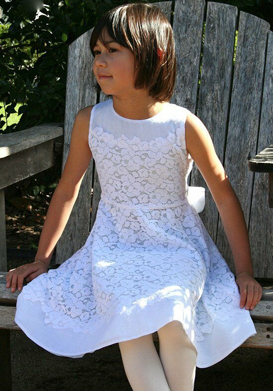 Isabel Garretón Blossom Blue Flower Girl Dress